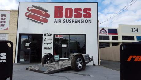 Air bagged trailer