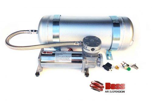 Compressor air tank combo