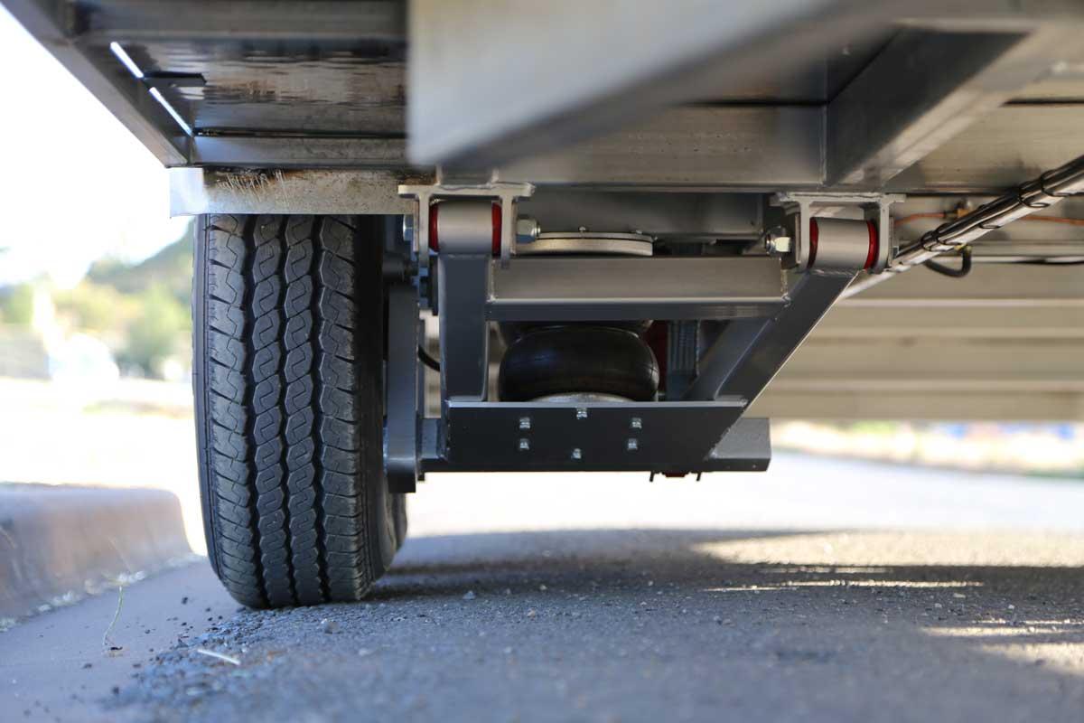 front airbag suspension