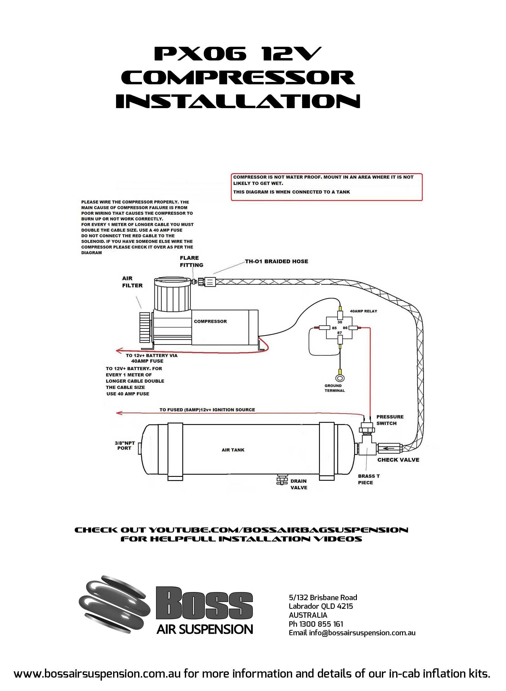 Boss Air Compressor Wiring Diagram