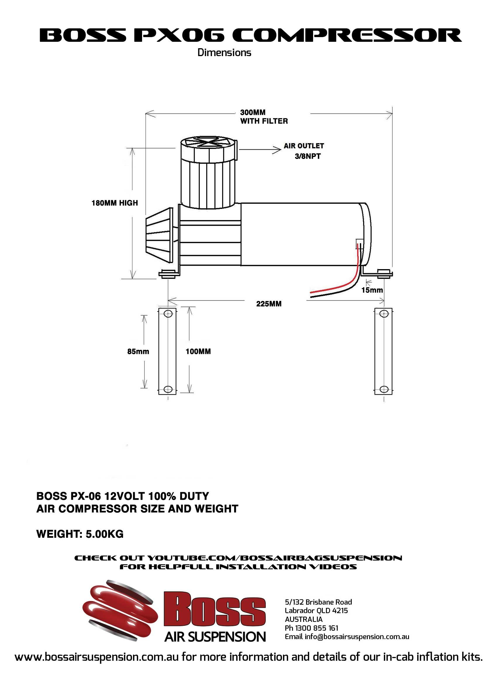 12 volt Air Compressor PX06 | Boss Air Suspension