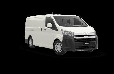White Toyota HiAce - Boss Air Suspension