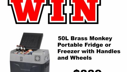 Win 50L Brass Monkey, Portable Fridge or Freezer